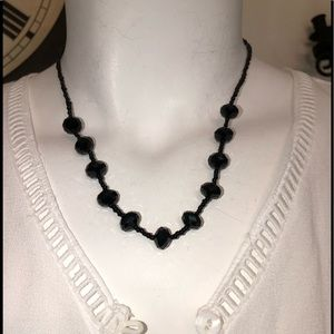 Jewelry - BLACK CRYSTAL BEADS NECKLACE